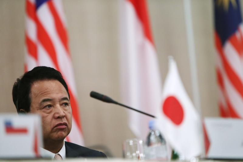 Japanese Economics Minister Akira Amari told Trans-Pacific Partnership (TPP) trading partners at talks in Singapore last week that Japan will not agree to abolish all tariffs on wheat, rice, dairy, sugar, beef and pork - EPA Photo.