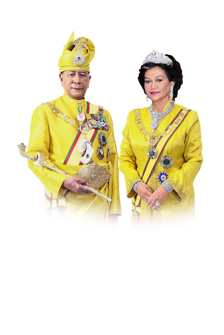 His Royal Highness Sultan Sallehuddin Ibni Almarhum Sultan Badlishah and Her Royal Highness Sultanah Maliha Almarhum Tengku Ariff.