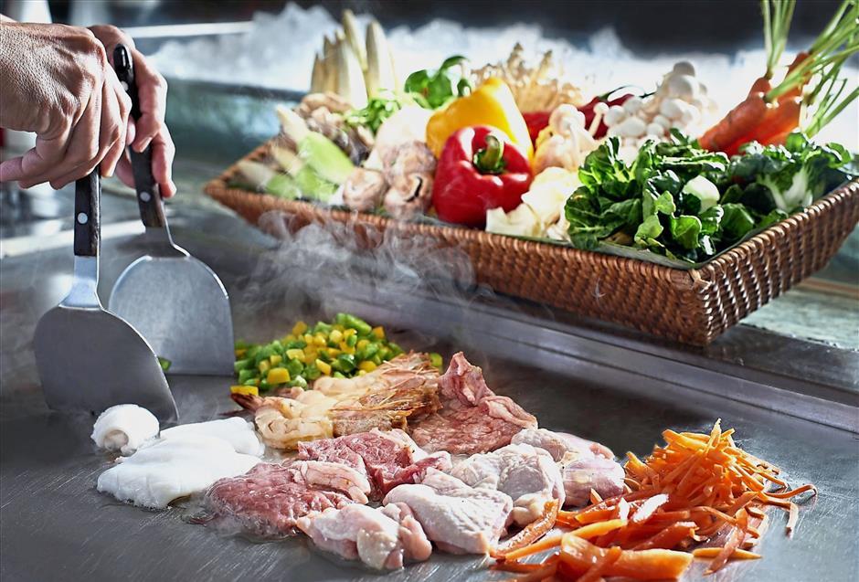 Mongolian BBQ buffet at Melting Pot, Concorde Hotel Kuala Lumpur
