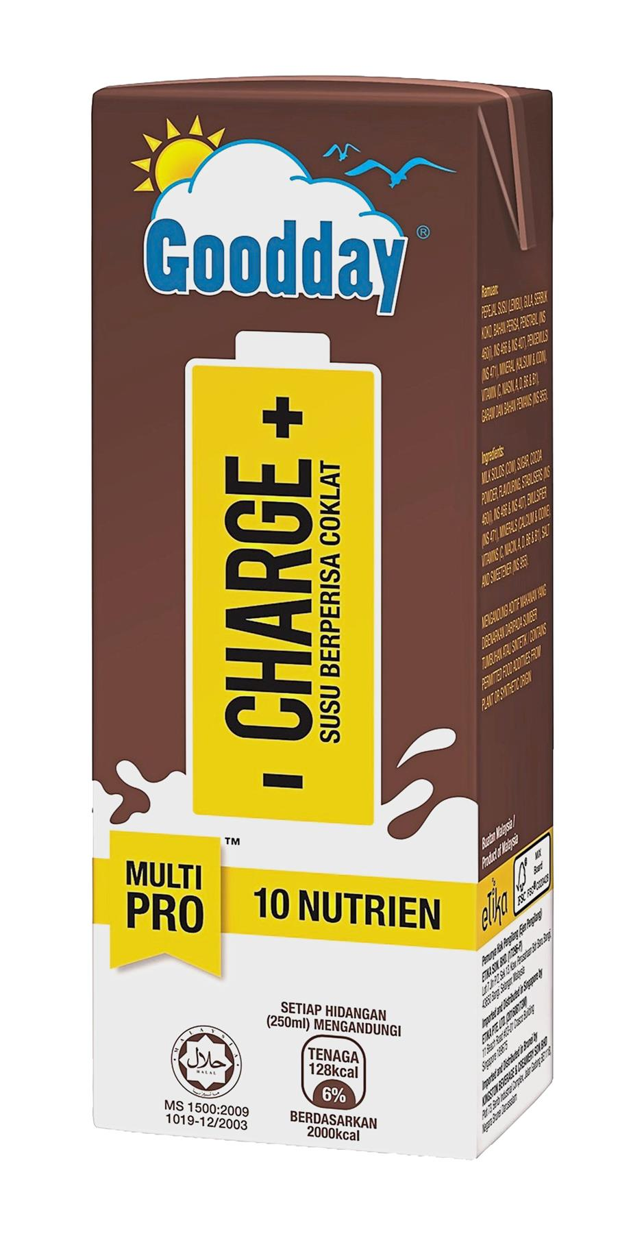 Goodday Milk has come up with Goodday Charge, a chocolate milk drink fortified with as many as 10 nutrients