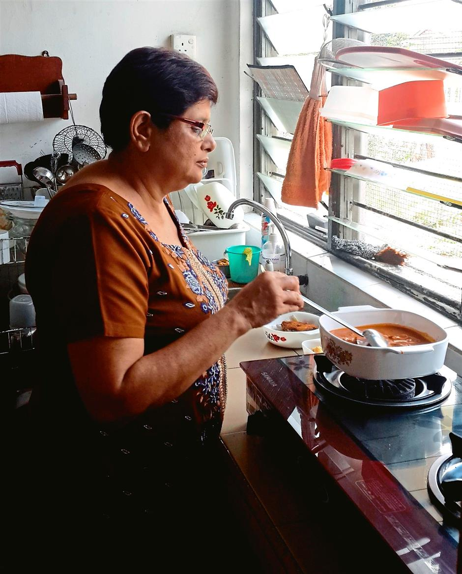 Joginder Kaur likes cooking and this helps her pass time.