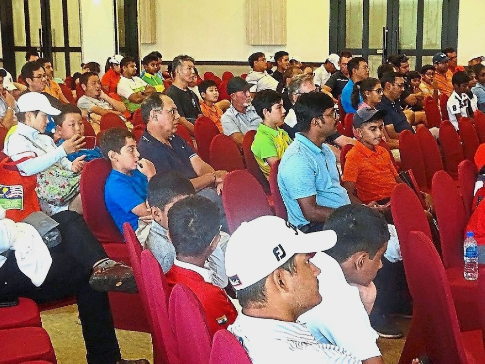 Some of the participants at the New Rules of Golf seminar.