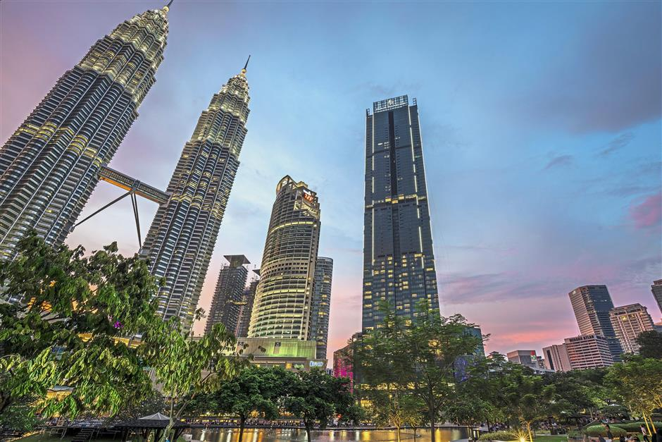 Imposing image: The Four Seasons Hotel Kuala Lumpur which had its official opening in November.