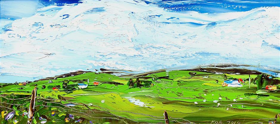 Wide open pastures and clear skies captured in 'Farmland 2'.
