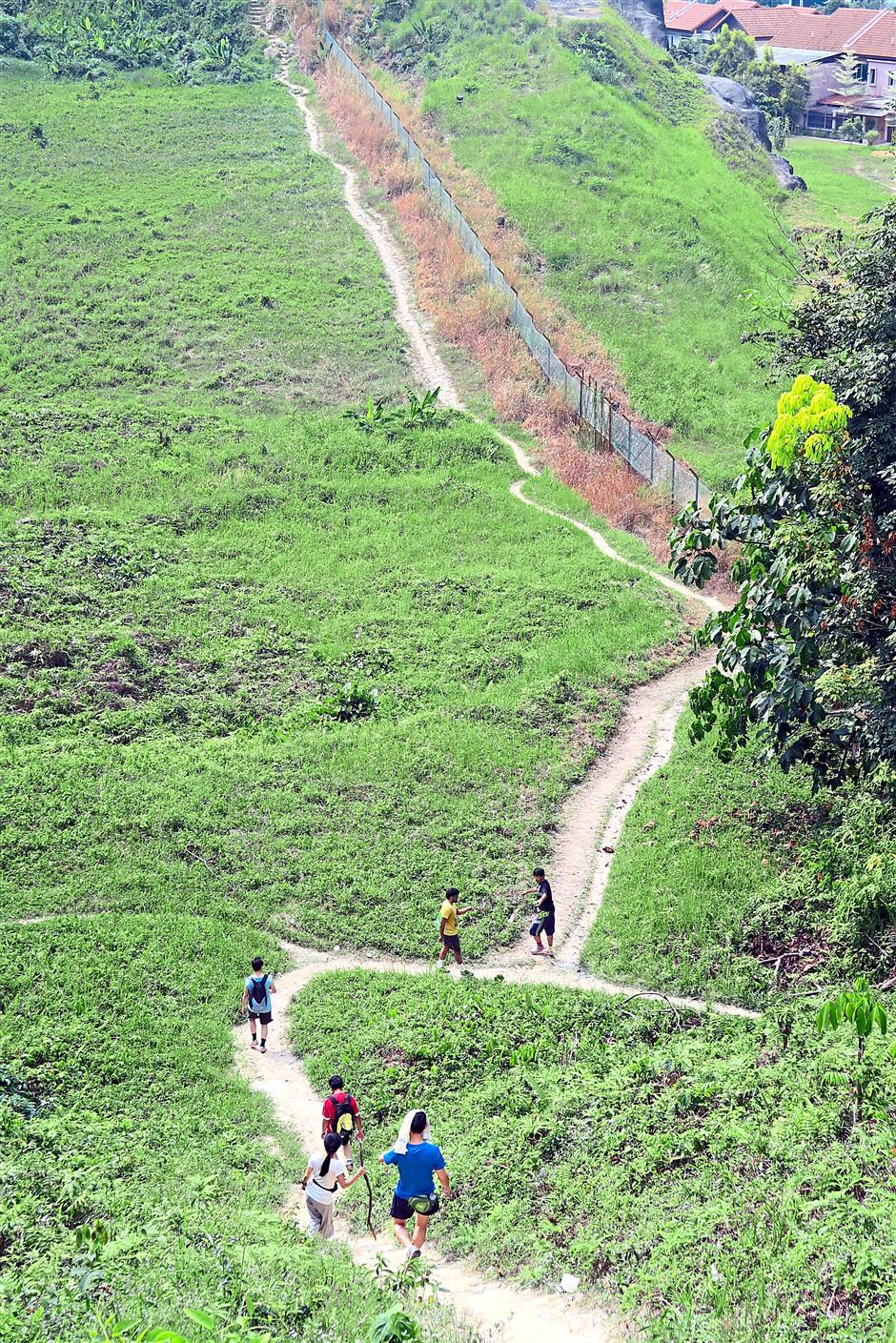 Trek to the top: Wide open vistas can be seen on the Sri Bintang trail.