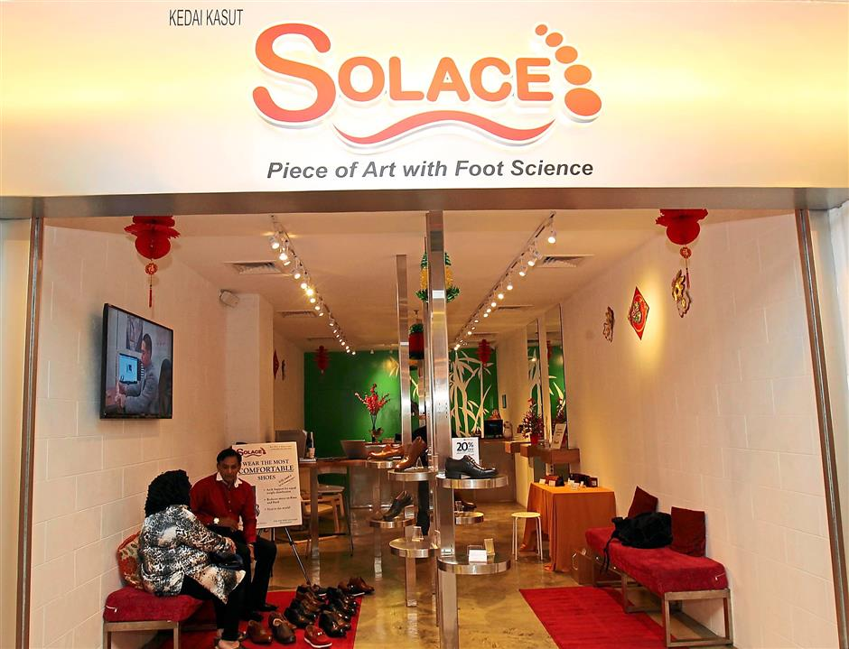 Growing: Solace, which started its first store at Lot 10 Shopping Centre, also has a retail outlet at Robinson's in Gardens Mid Valley and in Singapore.