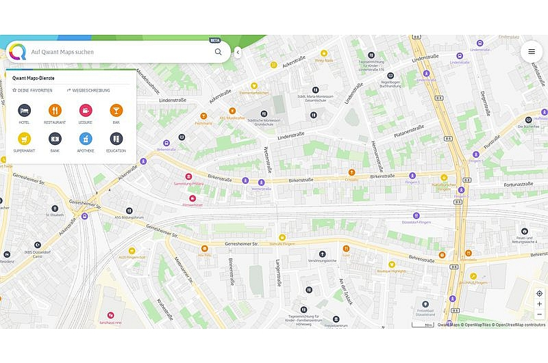 Route planning without data tracking: Qwant Maps | The Star ...