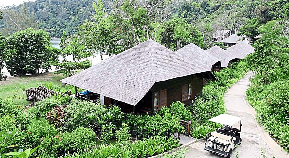 Villas at Bunga Raya Island Resort.(picture for story slug kkrmarinepark)