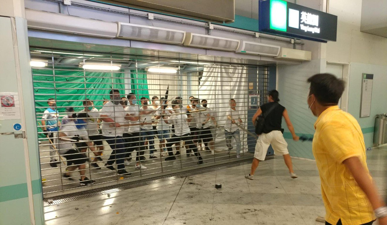 Gang attack at Hong Kong's Yuen Long MRT station, leaves