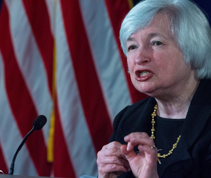 Janet Yellen, whose salary is set by Congress, earns US$201,700 a year - AFP Photo.