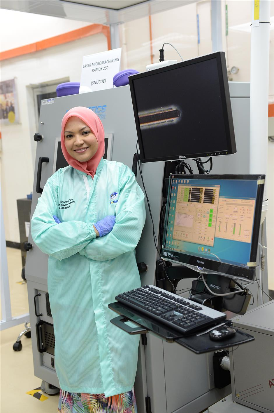 Saving lives: Dr Noorhafiza may not be a medical doctor, but that hasn't stopped her from trying to improve the survival rate of coronary disease patients.