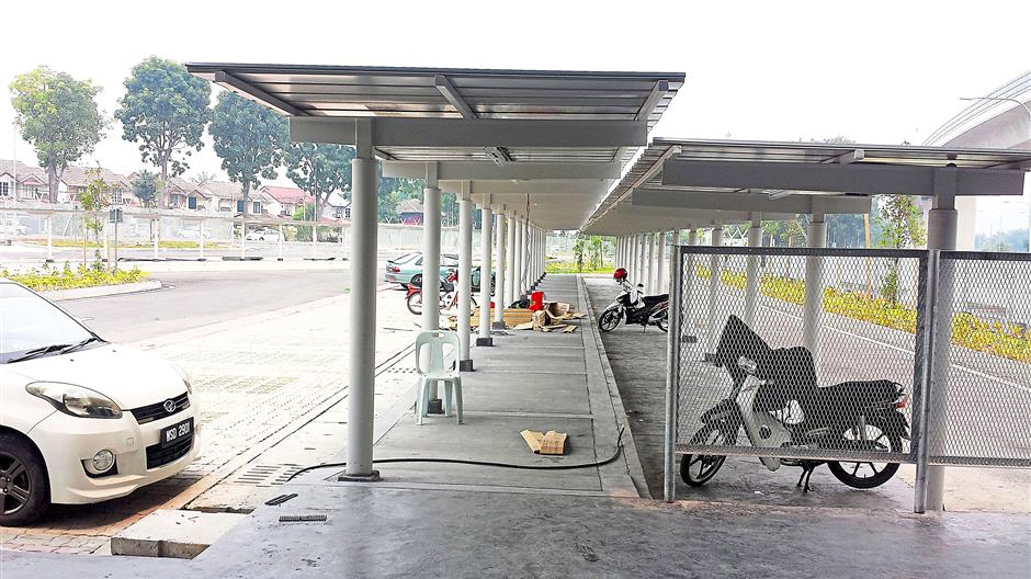 Covered walkways at the new LRT stations for added convenience.