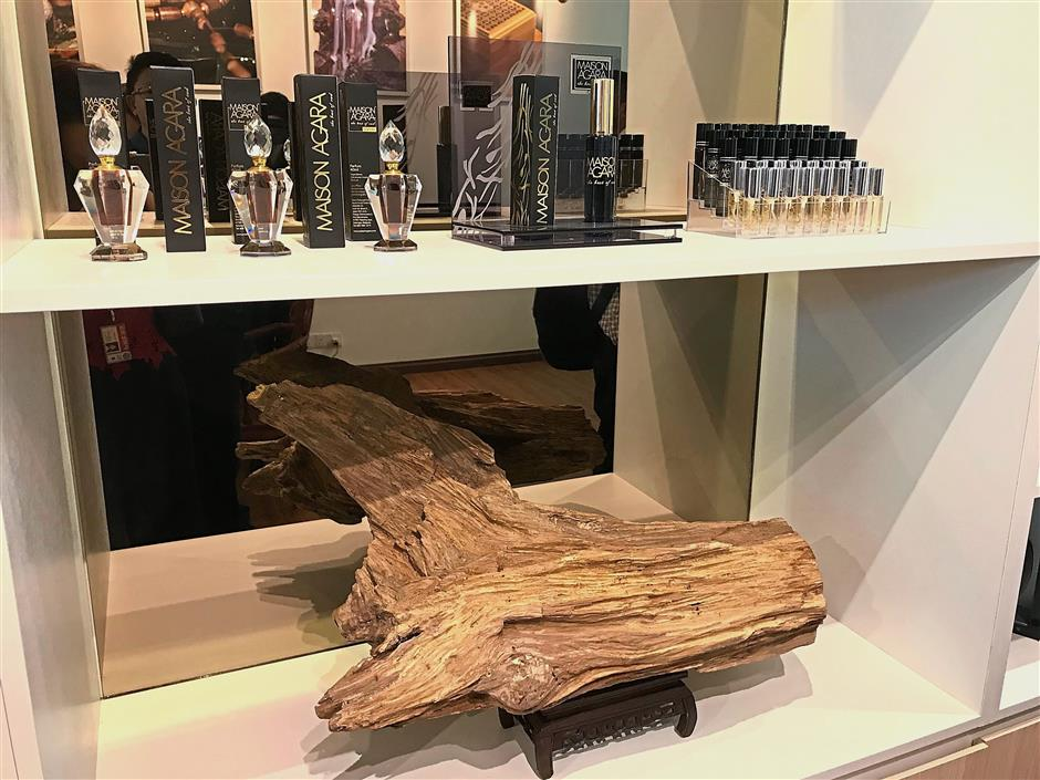 Products made from agarwood by Rural Asset Group which can be found at the company's new office building in Ara Damansara.