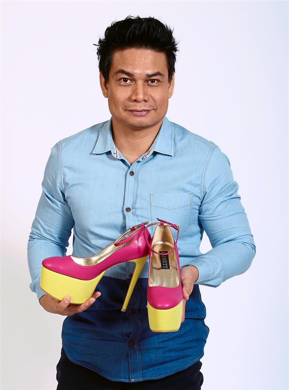 Cushioning the feet: Zul Mohd says he puts in a platform to ensure his shoes are comfortable.