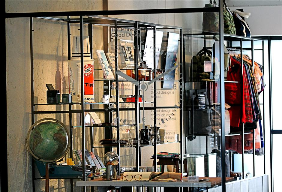 Every quarter, Objekt-Object, the retail unit within the cafe, features a designer as well as works they consider relevant.