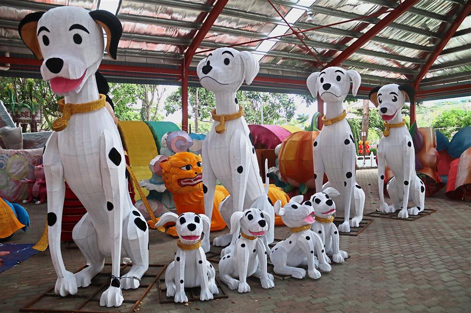 Lanterns in the shape of Dalmatian dogs are set to steal the hearts of visitors this Chinese New Year.