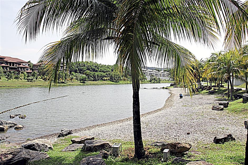 Beach in the city: Taman Wawasan's attractions include a pebble beach, lotus pond and hibiscus boulevard.
