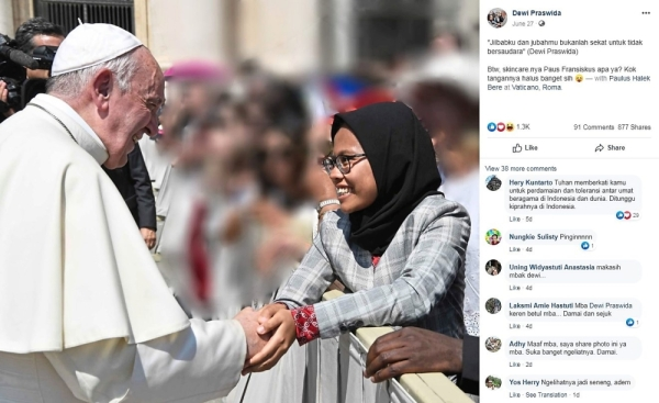 Indonesian finds fame after shaking pope's hand | The Star Online