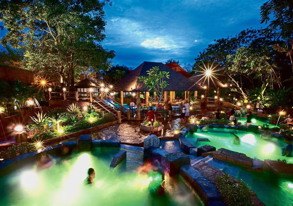 The hot springs and spa section boasts 12 pools with varying degree of water temperature. — Lost World Of Tambun
