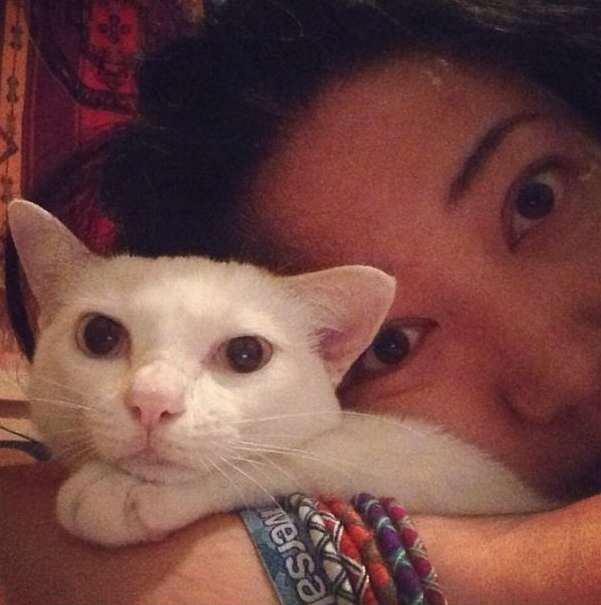 My friend Jenn and her kitten