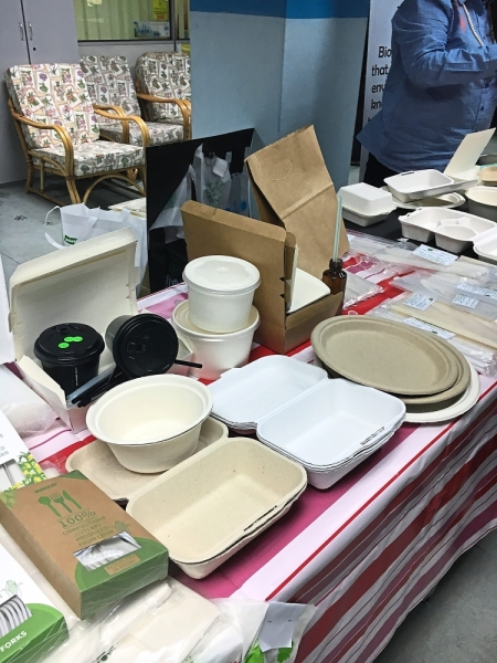 Examples of 100% biodegradable packaging available in the market.