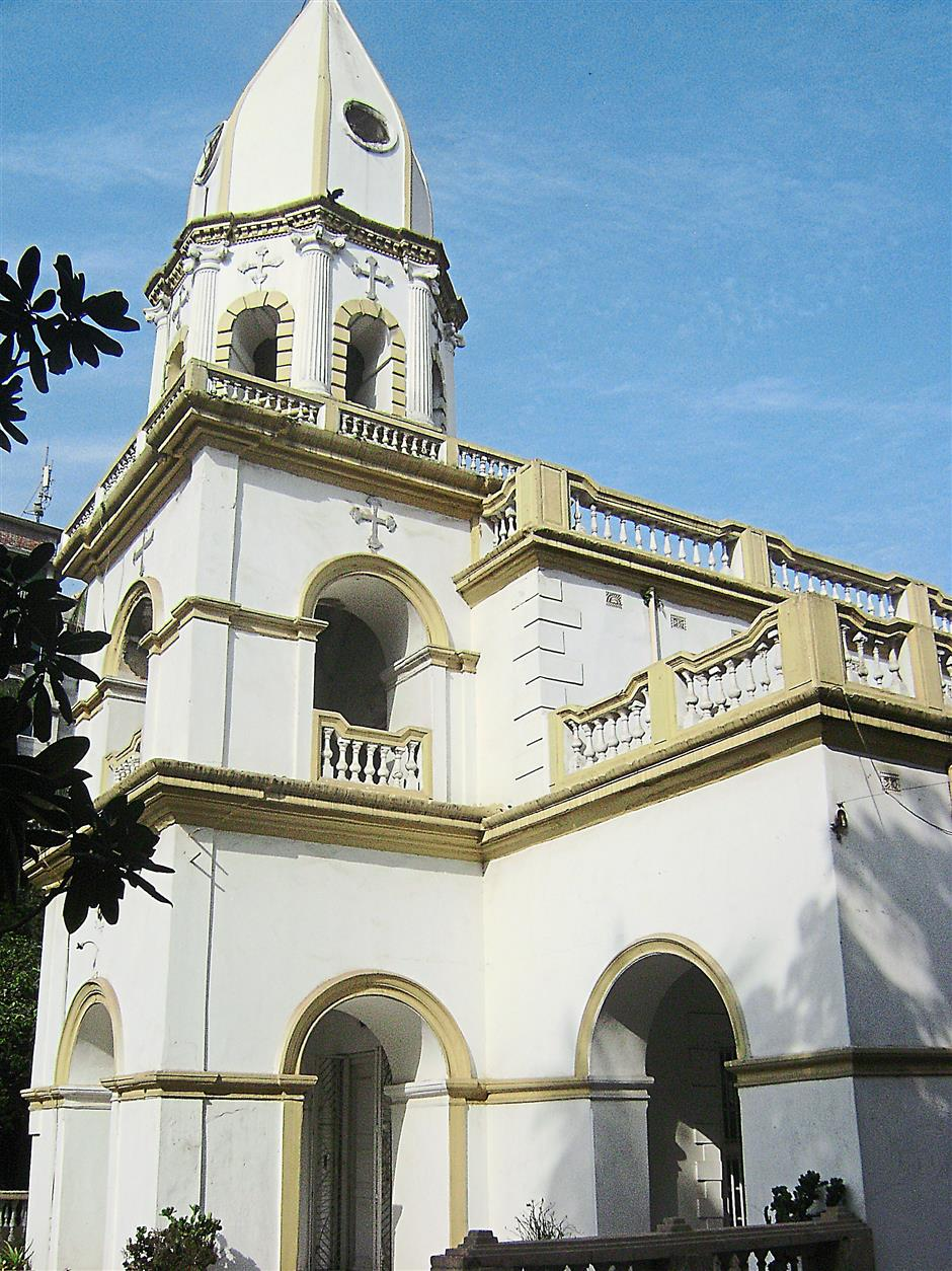 The old Armenian Church in the Armanitola area of Old Dhaka.