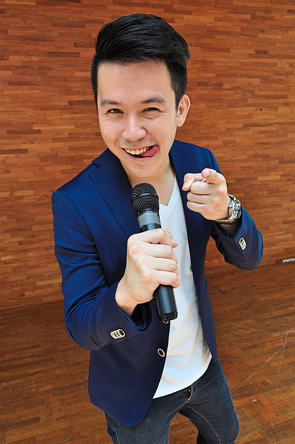 Emcee Arthur Tan says the business is about bringing joy to others.