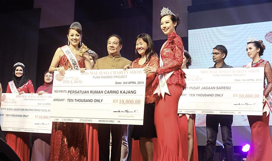 Donations: The event raised RM100,000 which was split equally between 10 orphanages and old folks home in the Klang Valley. —