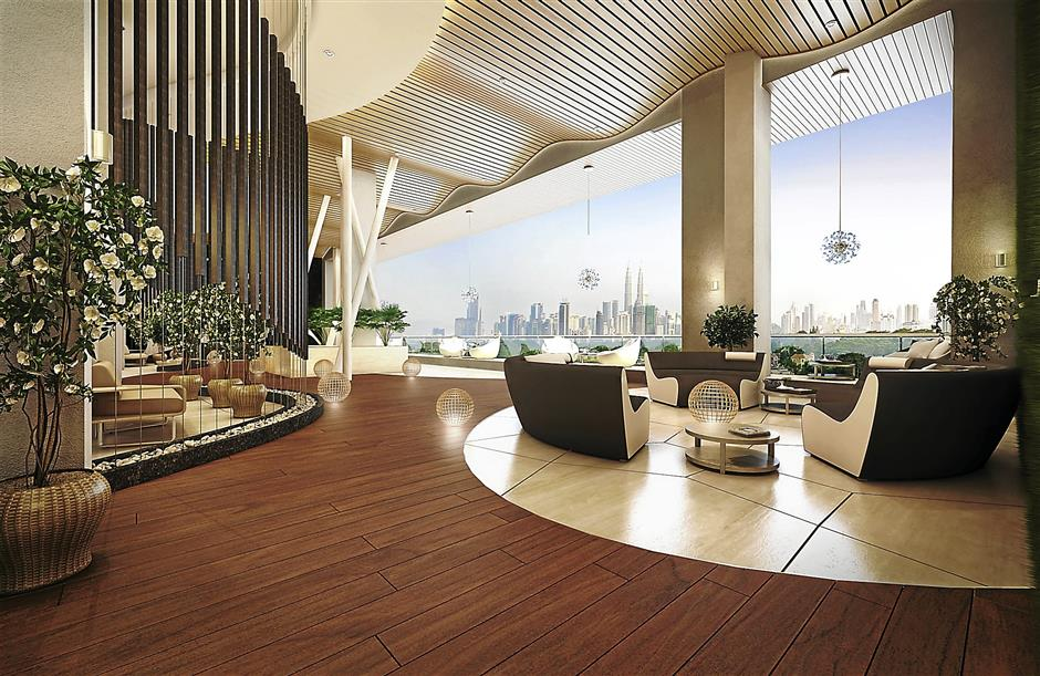 Let the breathtaking view of the KL skyline do the talking as you lounge in The Reach's viewing deck