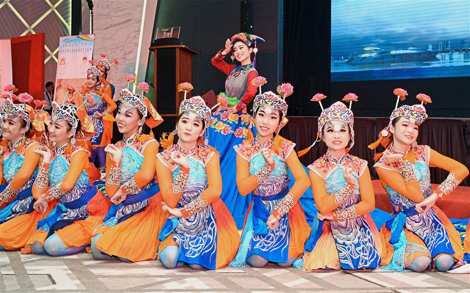 Malaysian students entertaining the crowd with a sprightly routine of their own. — Photos: Jeremy Tan/The Star
