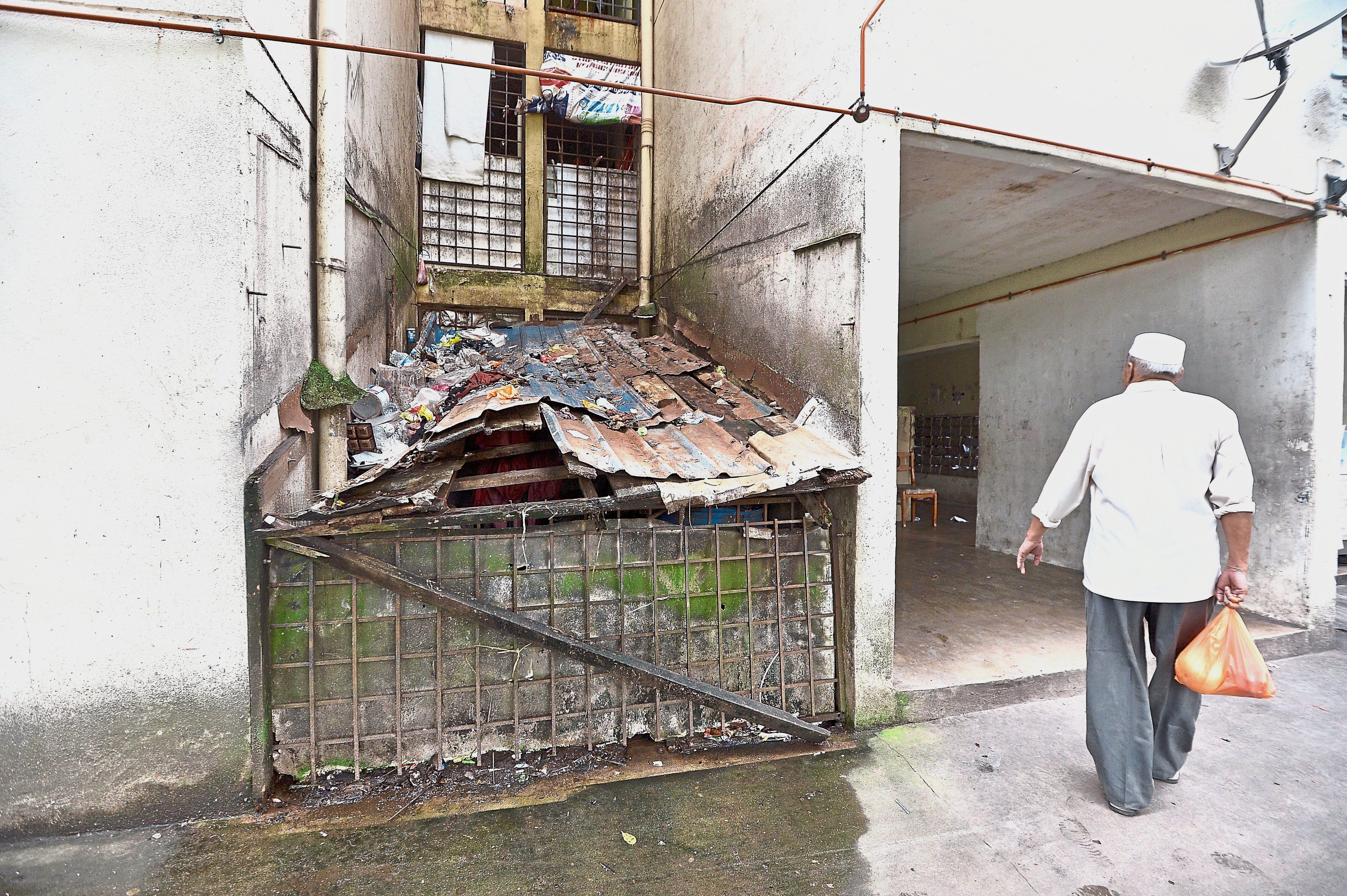 Dirty and deplorable living condition at PPR Taman Putra Damai Lembah Subang in Kelana Jaya