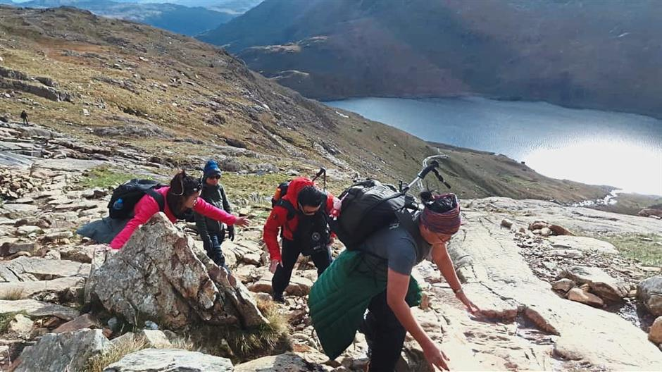 Adventure time: The trips are not just about serious learning. The group also enjoyed some physical activity and beautiful scenery.