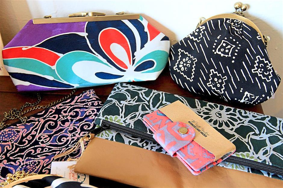 Blair's family and friends were impressed with the colours and patterns of the batik that Kak Ana made into souvenirs.