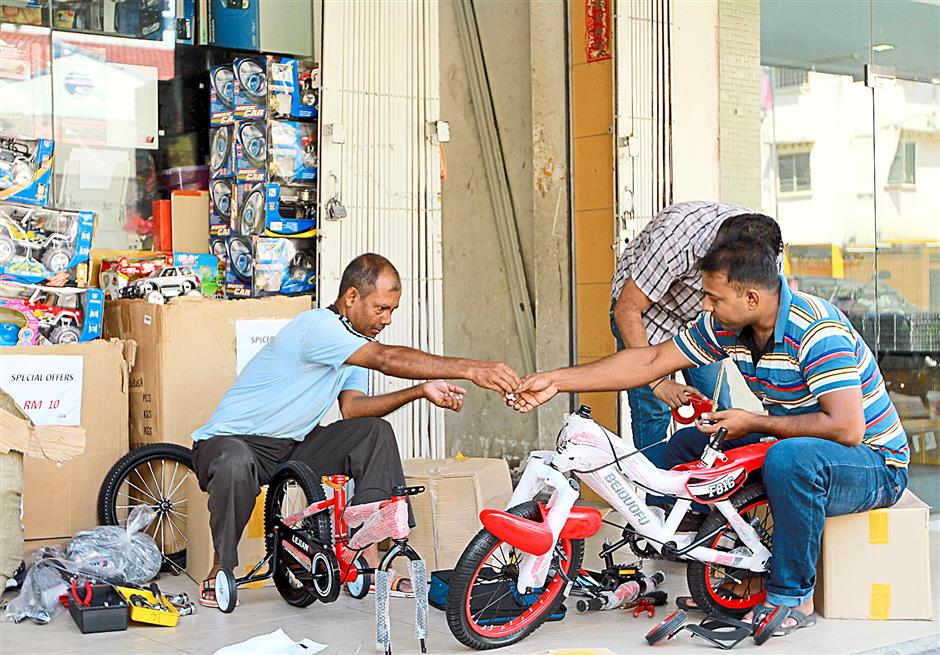 Wholesale centre: The shops in Lorong Haji Taib are mostly in the wholesale business offering accessories, toys and fruits among others.
