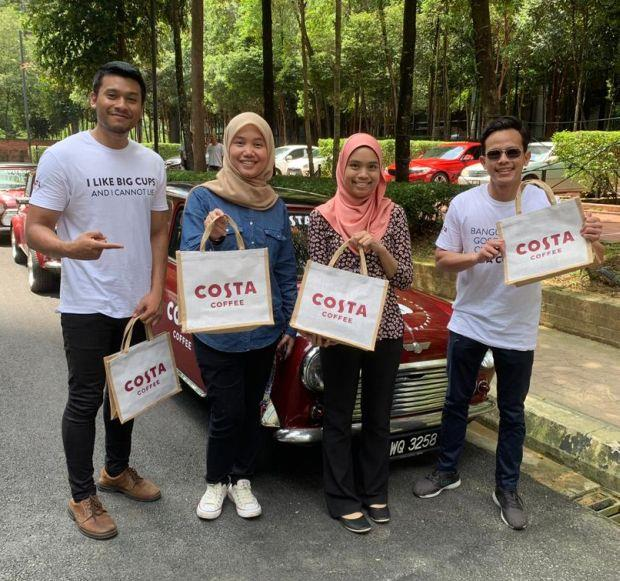 The Costa Coffee MINIs are giving away goodie bags with limited edition merchandise and invitations to enjoy free coffee at the new Costa Coffee stores. Read more at https://www.thestar.com.my/news/nation/2019/07/26/celebrating-the-arrival-of-the-all-new-costa-coffee-stores/#LszStmQKpMSZhVoV.99