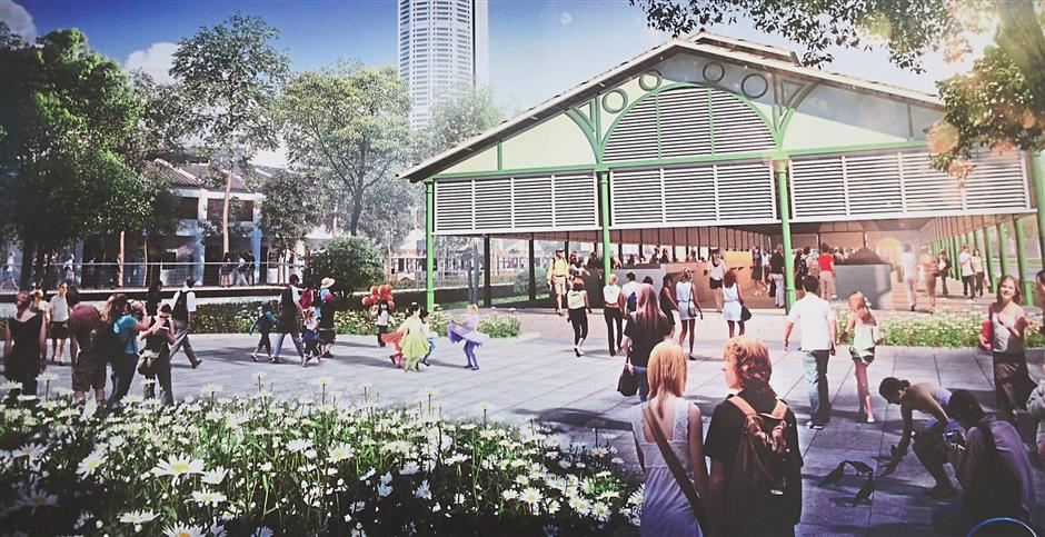 The artist impression on the planned transformation of the Sia Boey market.