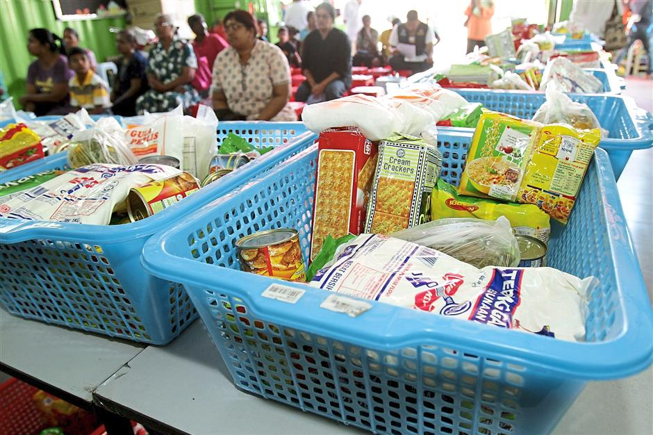 7 the charity food basket assoication gives away sundries to the poor including old and single mothers on every first sunday of the month.