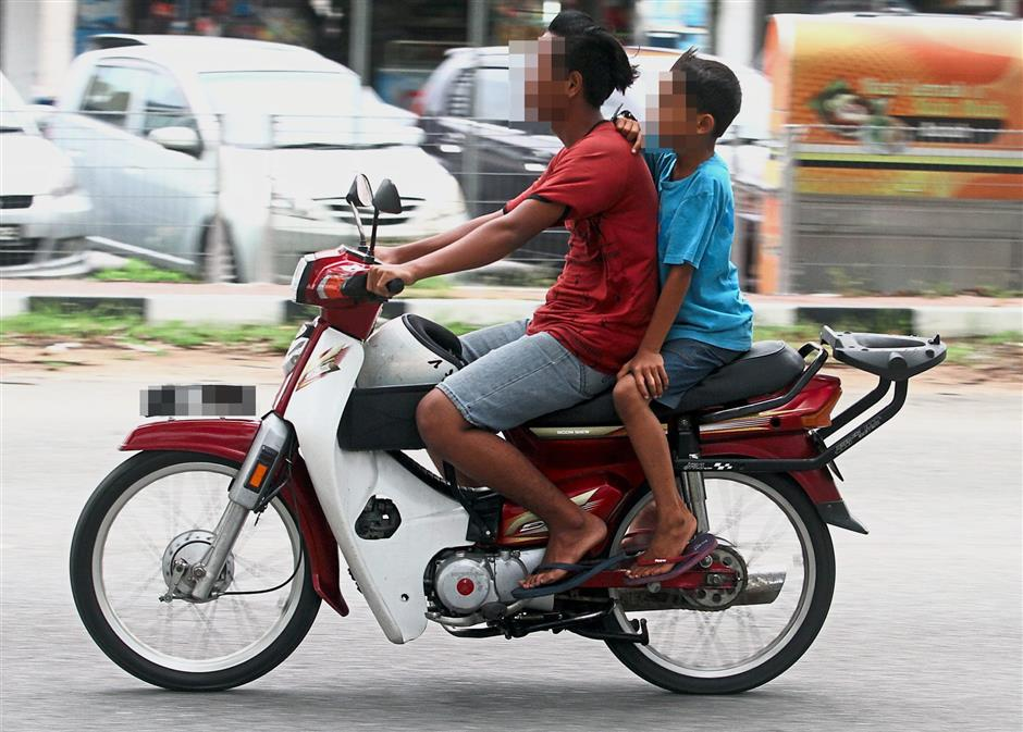 Section 39 of the Road Transport Act states that no person less than 16 years old should ride a motorcycle. — filepic