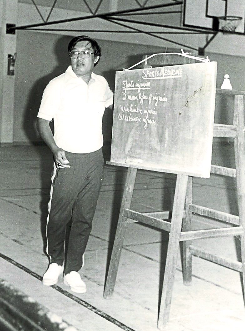 Imparting knowledge: Yong delivering a coaching course at the height of his involvement with the CTC's programmes in all the Malaysian states including Sabah and Sarawak.