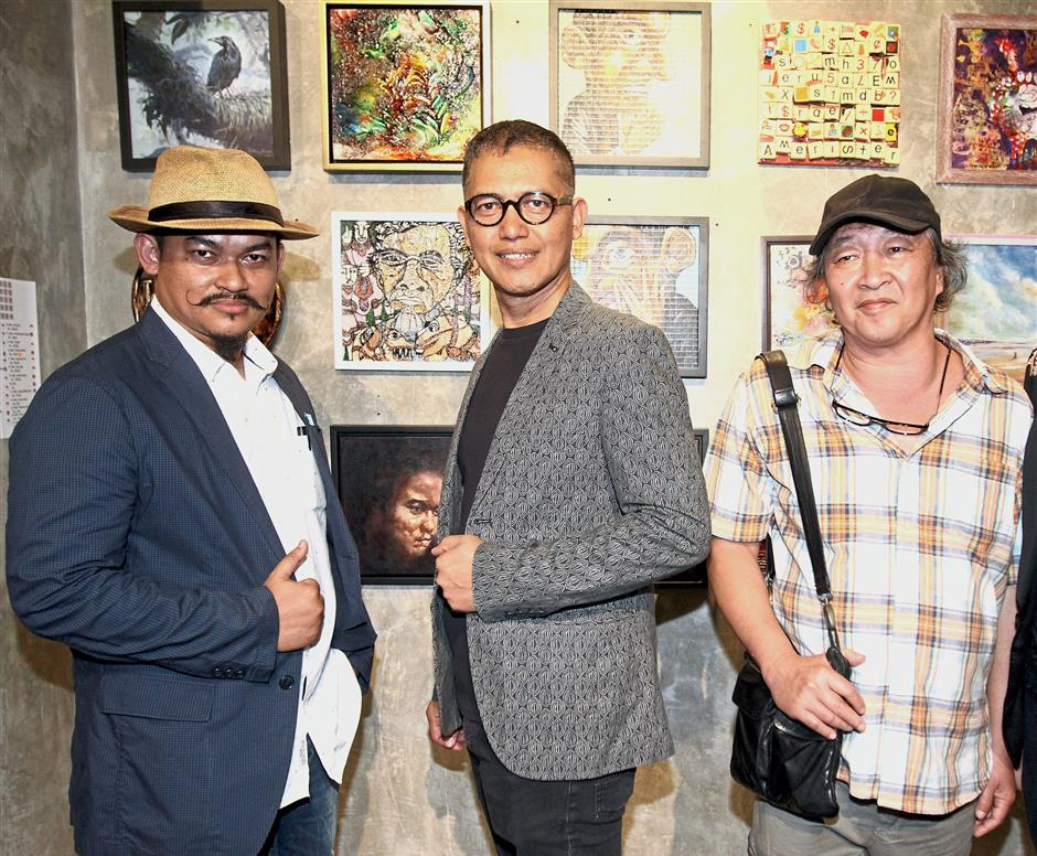Spearheading the Imago Mundi (Images of the World): Three Nations Art Show are (from left) Zaki, Abu Jalal and Kho.
