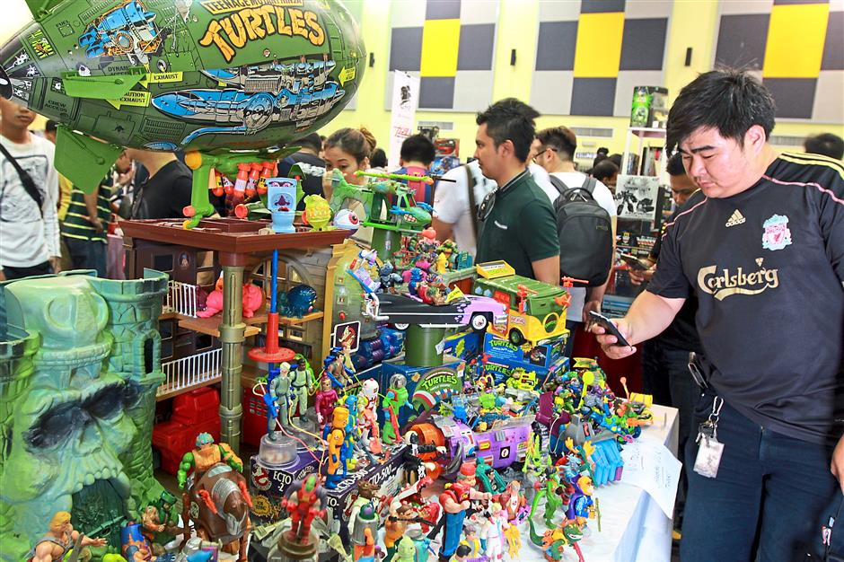 Back to the 80s: Nostalgia oozed from this booth featuring figurines and more from old favourites such as Teenage Mutant Ninja Turtles, Ghostbusters and He-Man.