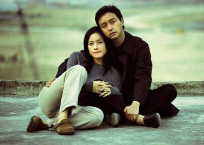 Leslie Cheung, pictured here with Karena Lam, in Law Chi Leungu2019s Inner Senses u2013 the last film the star made before his death.
