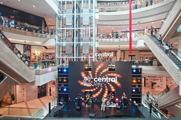 Central i-City offers 940,000sq ft of retail space with more than 350 stores on six levels.