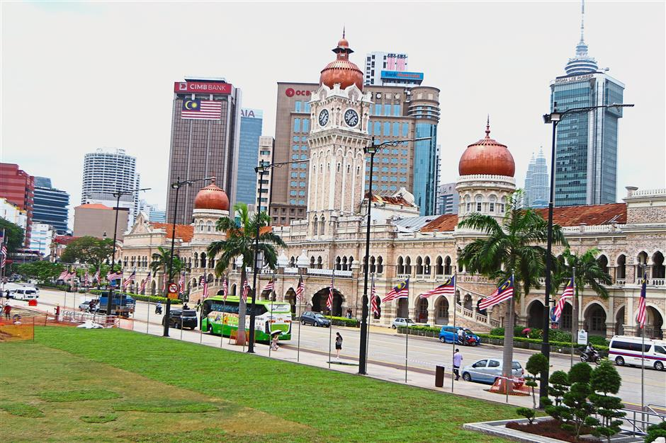 The iconic Sultan Abdul Samad building was completed in 1897.