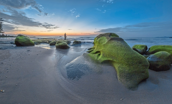 The ever-changing seascape as the sandy beaches shift between the wind and tide, unveiling hidden rock formations.