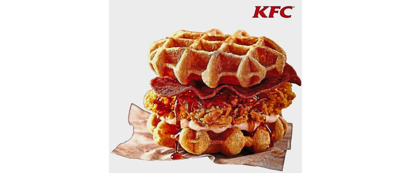 The limited-edition KFC Zinger Waffle Burger is priced at RM13.50 for u00e0 la carte