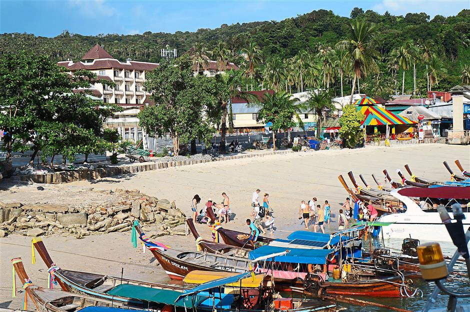 Just as popular: The Phi Phi Islands were badly devastated by the tsunami waves but recovered very quickly. — Phuket Gazette/The Nation