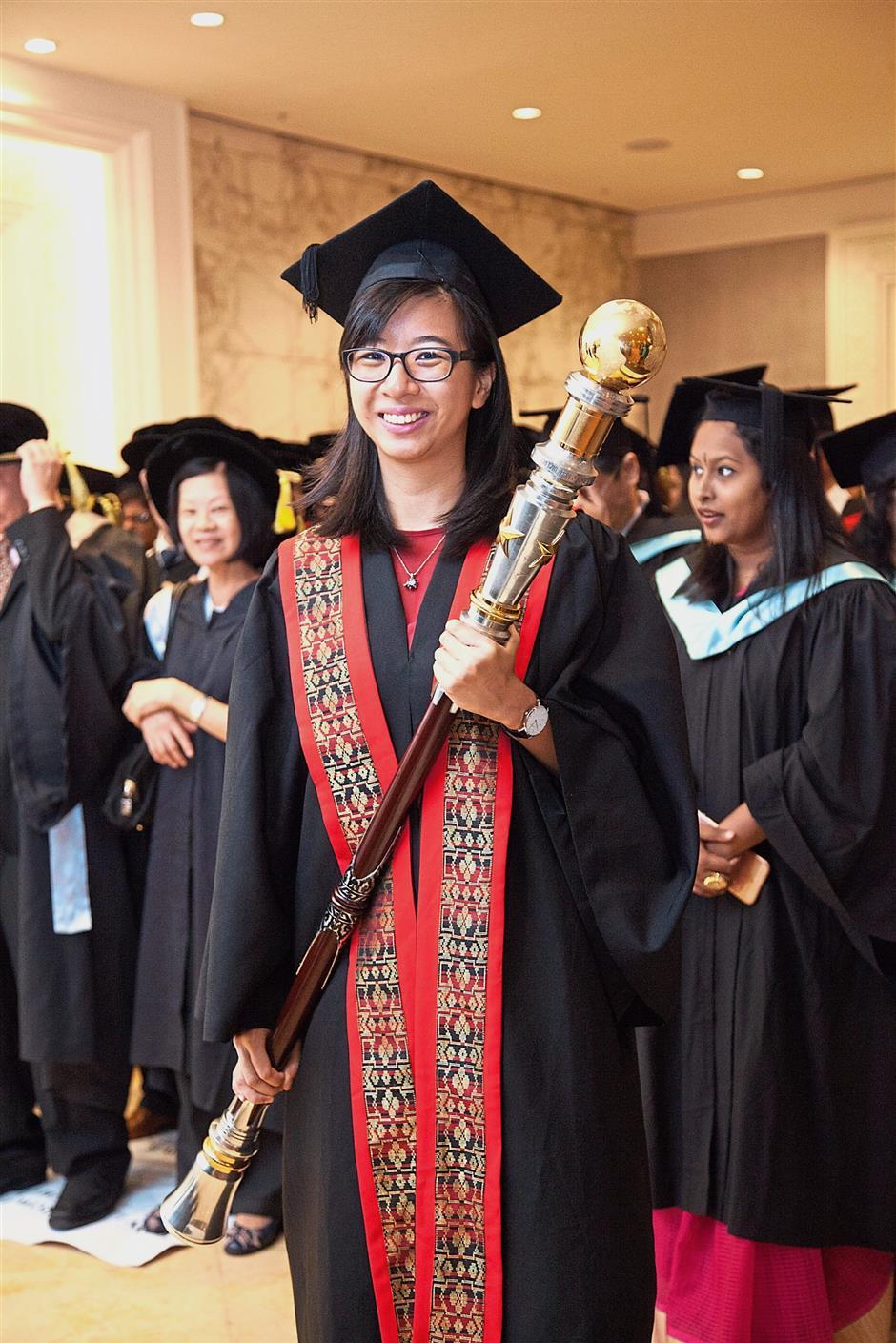 Hwu is the valedictorian and recipient of the Tan Sri Datuk Paduka Dr Hajjah Saleha Outstanding Achievement Award.
