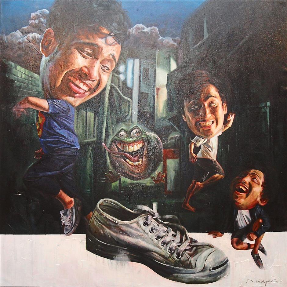 Shoe-win: 'Worst Case Scenario' by Nik Mohd Syazmie.