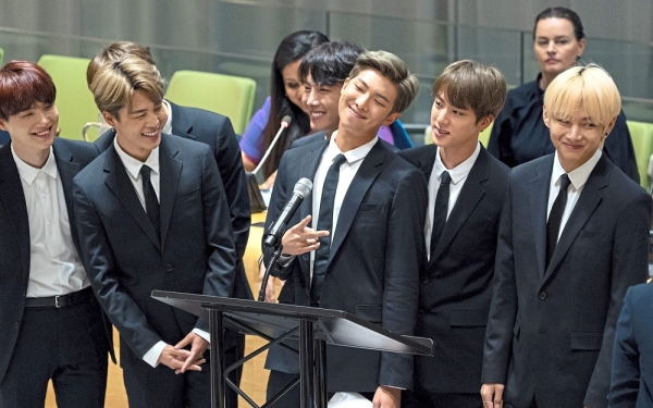 Role models: BTS even attended a high level meeting regarding youth during the 73rd session of the United Nations General Assembly in New York last year. — AP